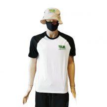 TLK fehér-fekete kereknyakú póló 2XL