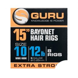 "Guru 15"" Bayonet Hair Rigs 10-es"