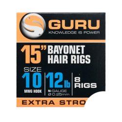 "Guru 15"" Bayonet Hair Rigs 14-es"