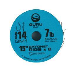"Guru 15"" QM1 Hair Rigs With Bayonets 10-es Horog"