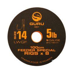 Guru 100cm LWGF Feeder Special Rigs 14-es Horog