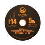 Guru 100cm LWGF Feeder Special Rigs 16-os Horog