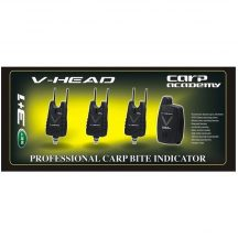 Carp Academy V-Head kapásjelző szett 3+1db