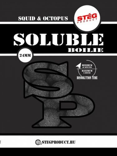 STÉG PRODUCT - SOLUBLE BOILIE 24MM - SQUIDOCTOPUS 1KG